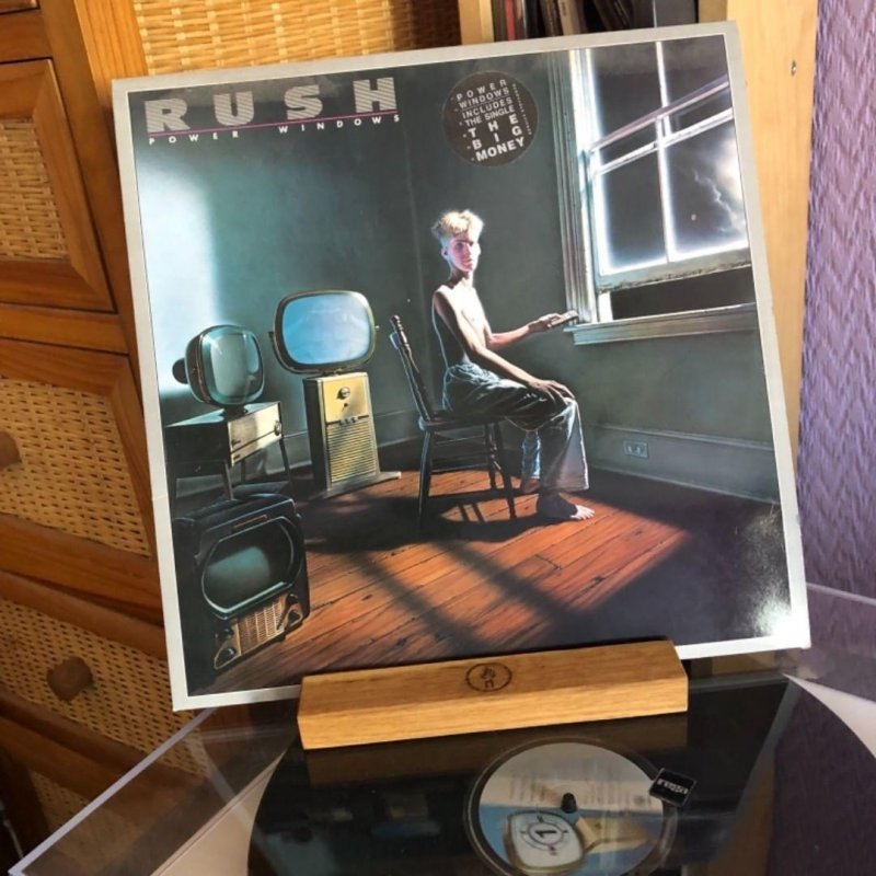 Rush - Power Windows. Bought on release. A bit crackly but still sounding good.