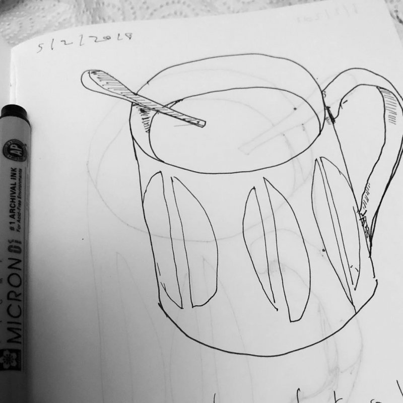 A little project. I'm the same mug every morning for a month. I won't be sharing them all here though.